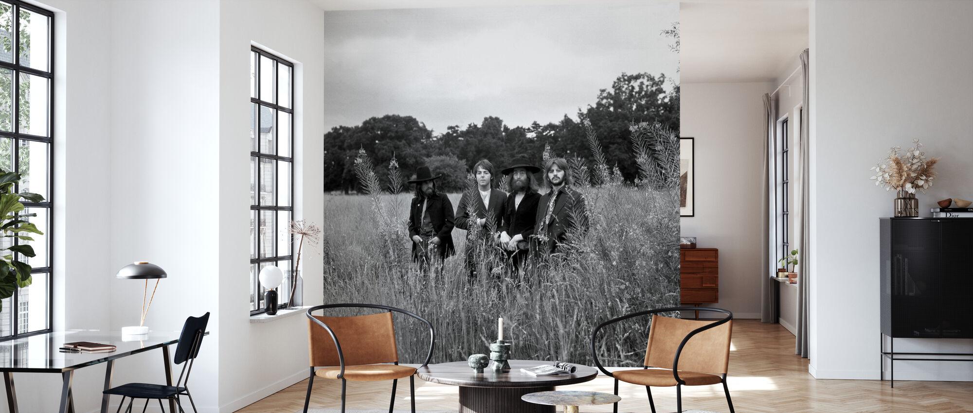 Beatles - Field BW - Wallpaper - Living Room