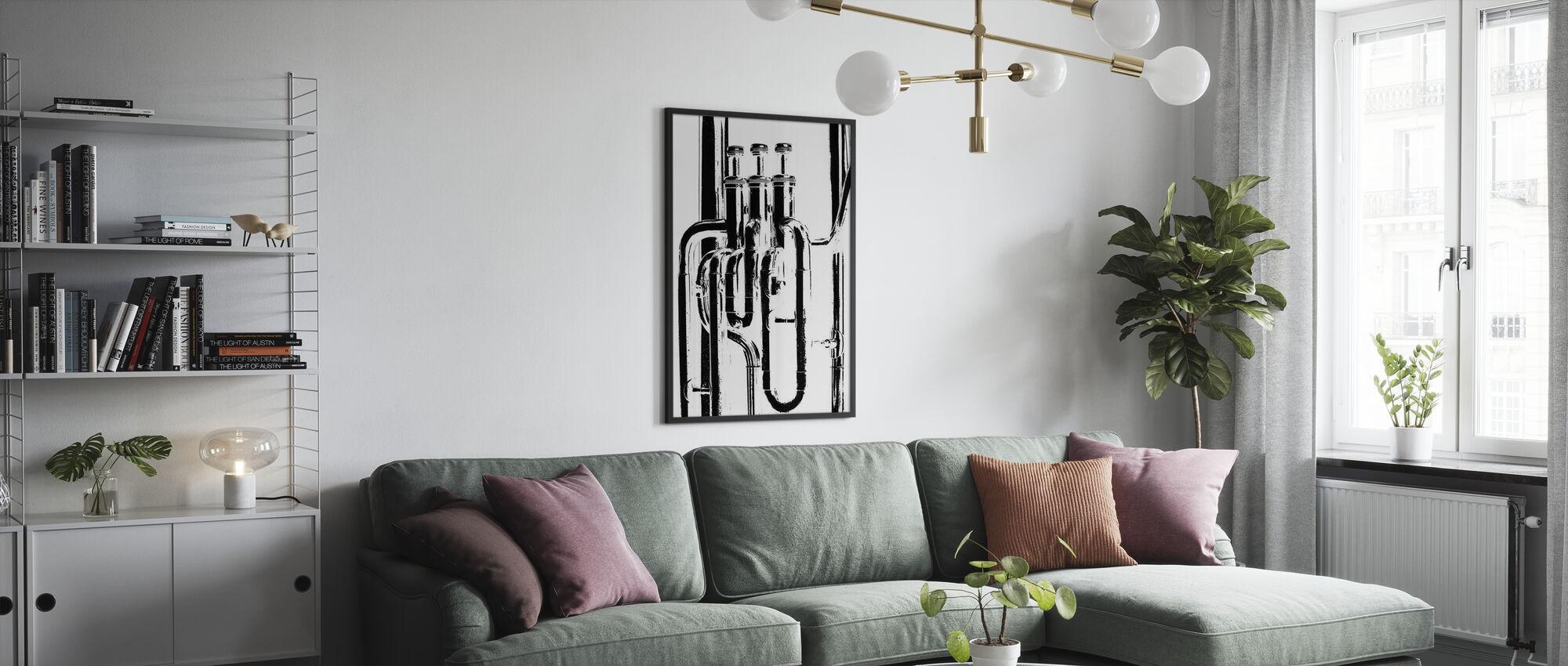 Brass Horn Graphic - Tuba - Poster - Living Room