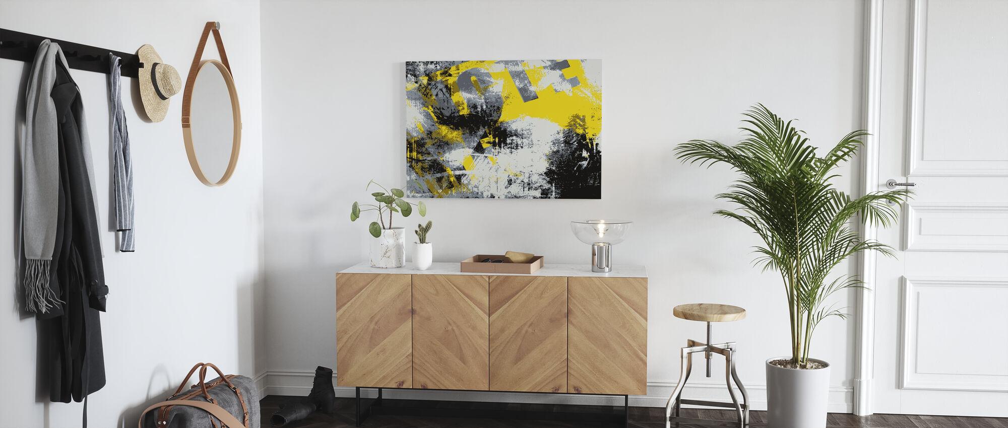 Grunge Background - Canvas print - Hallway
