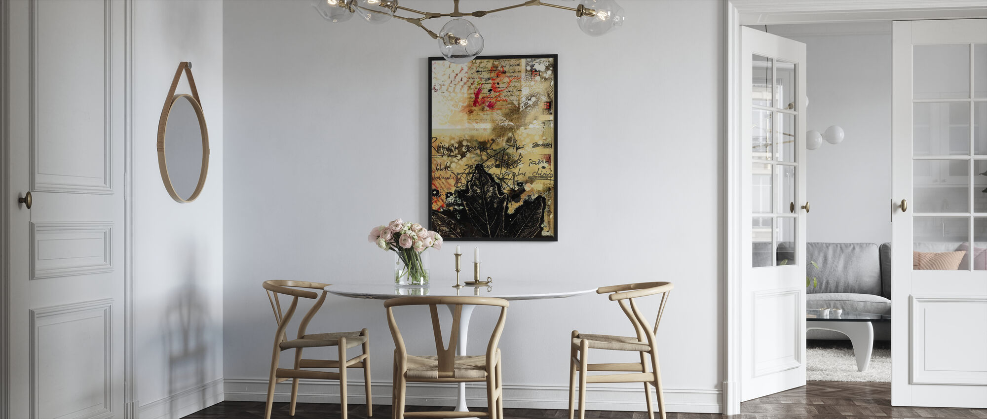 Abstract Grunge Background - Framed print - Kitchen