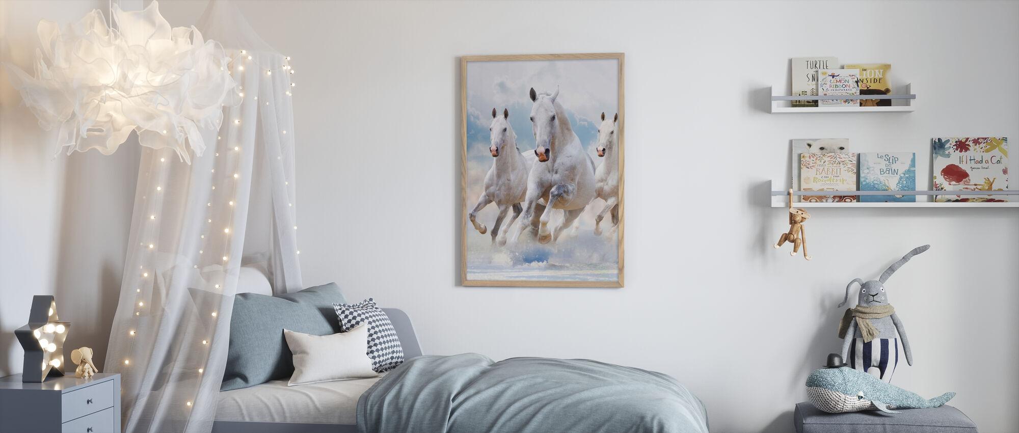 Himmel Hästar - Inramad tavla - Barnrum