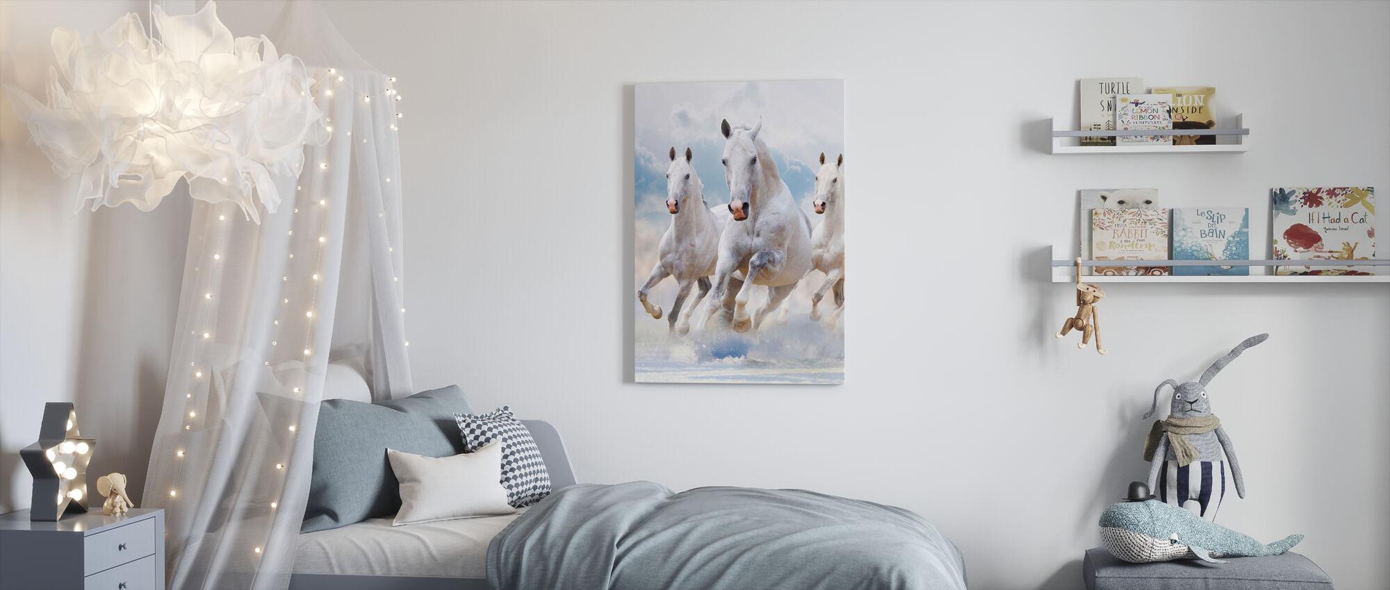 Sky Paarden - Canvas print - Kinderkamer