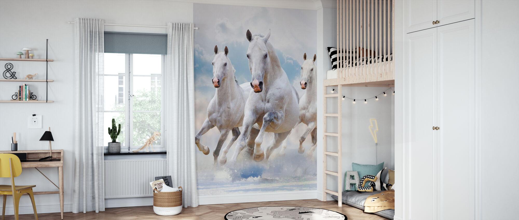 Caballos del cielo - Papel pintado - Cuarto de niños