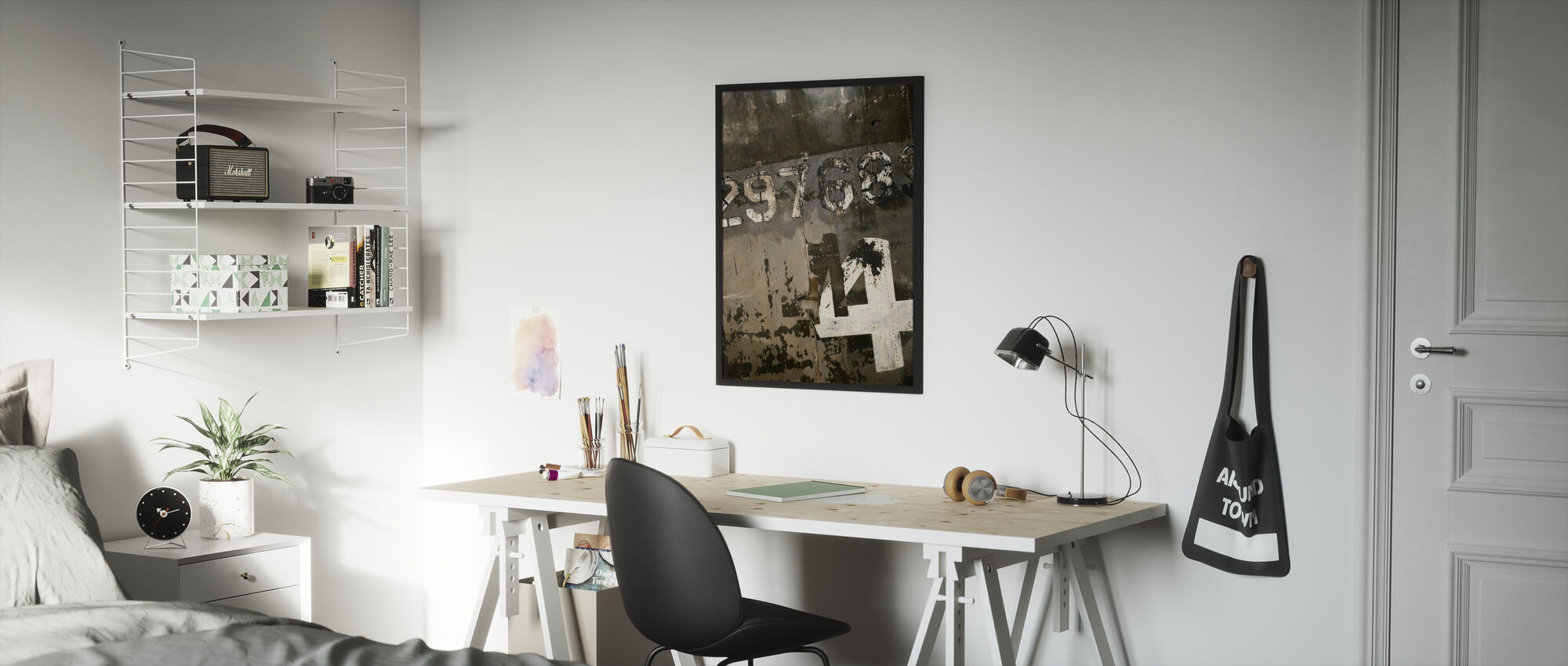 Grungy Steelplate - Poster - Kids Room