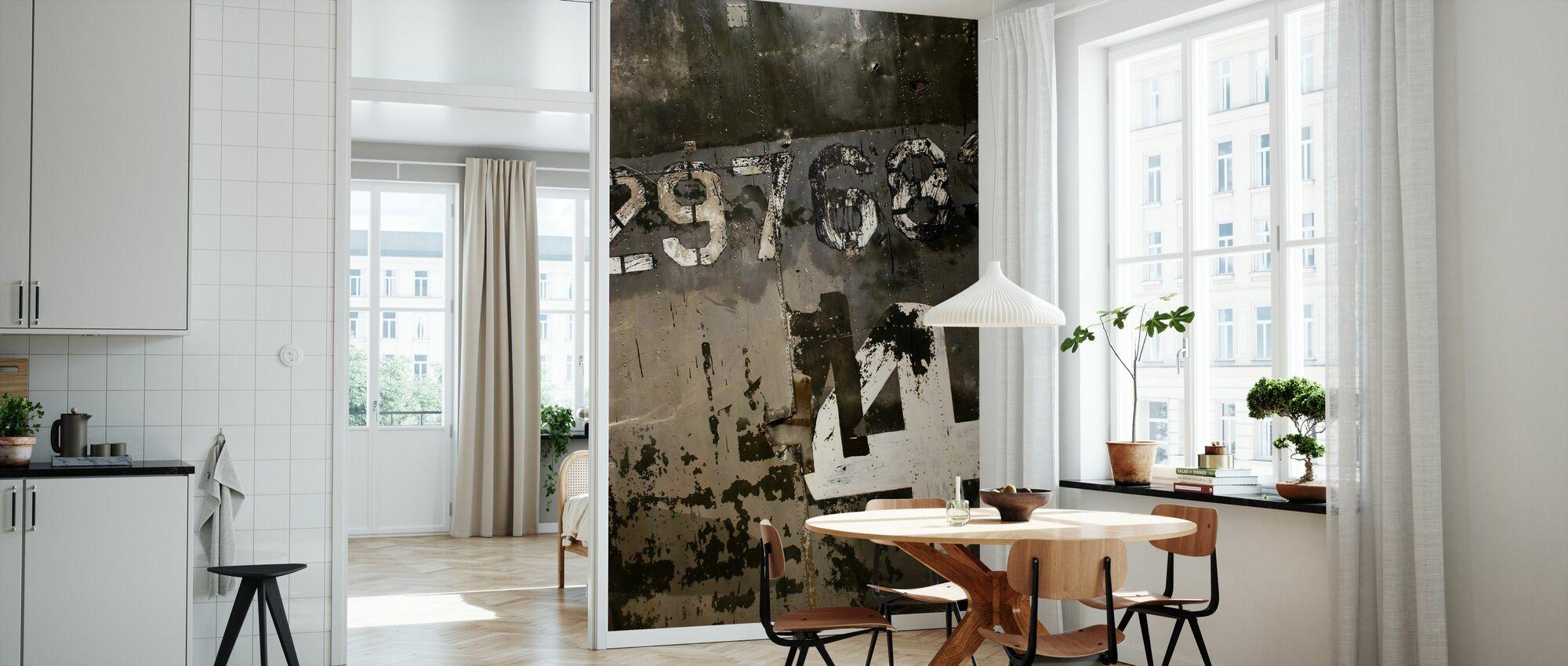 Grungy Steelplate - Wallpaper - Kitchen