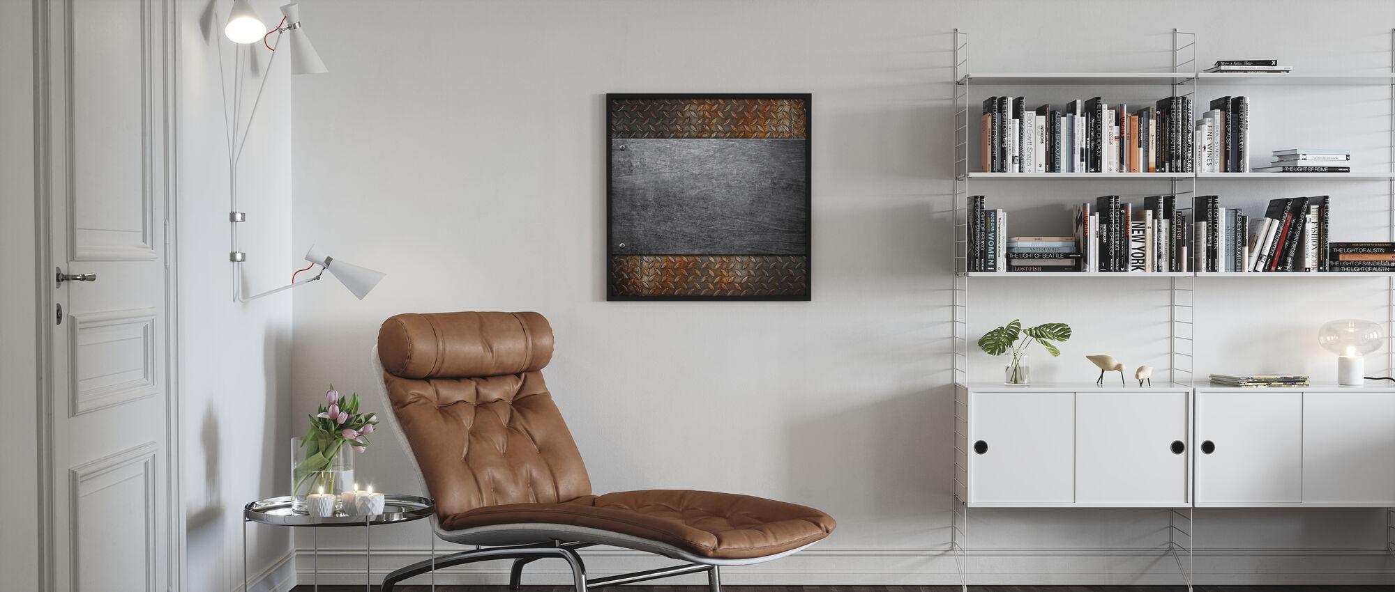 Metalli kuvio - Kehystetty kuva - Olohuone