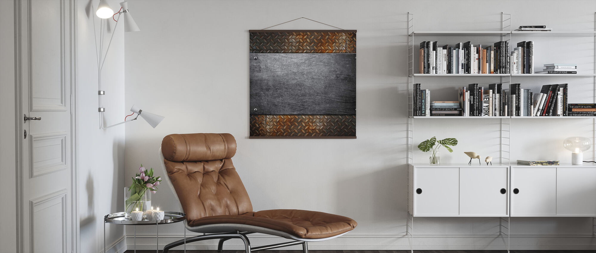 Metal Pattern - Poster - Living Room
