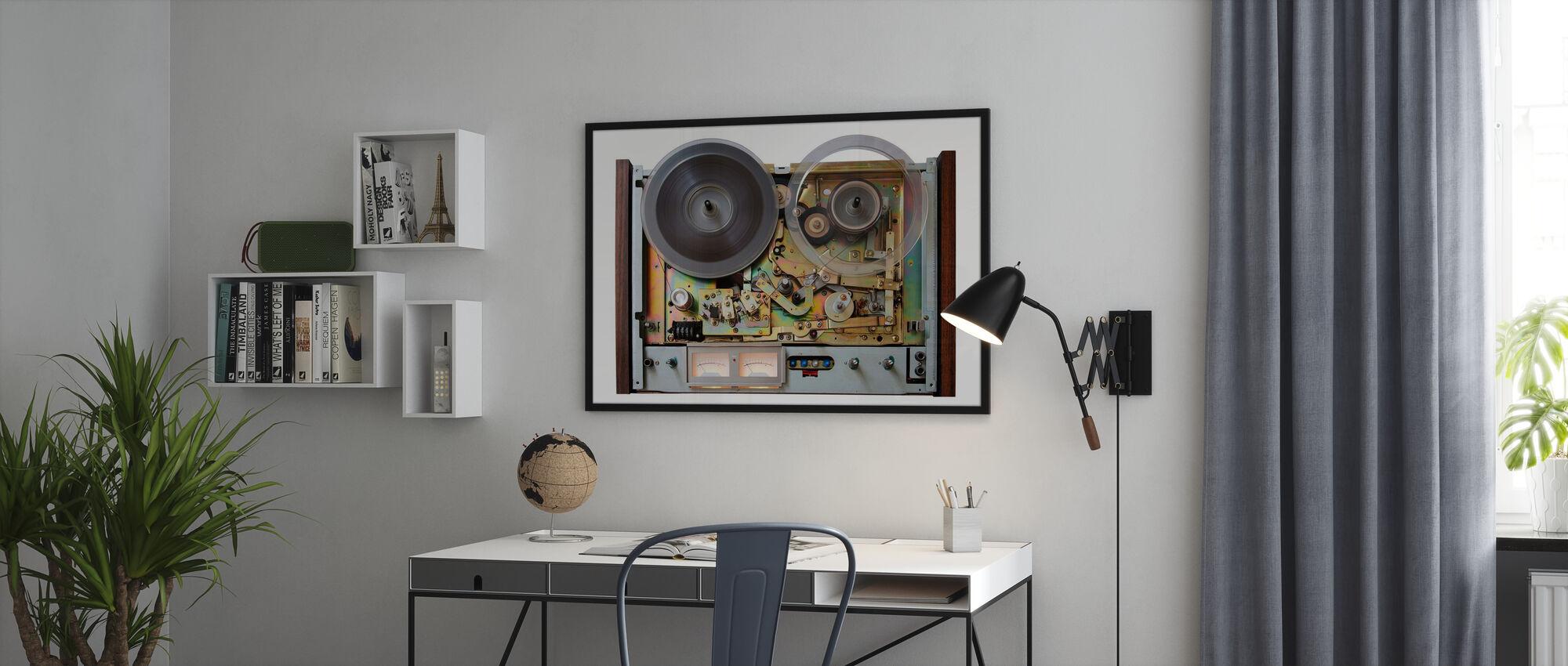 Vintage Analog Taperecorder - Poster - Office