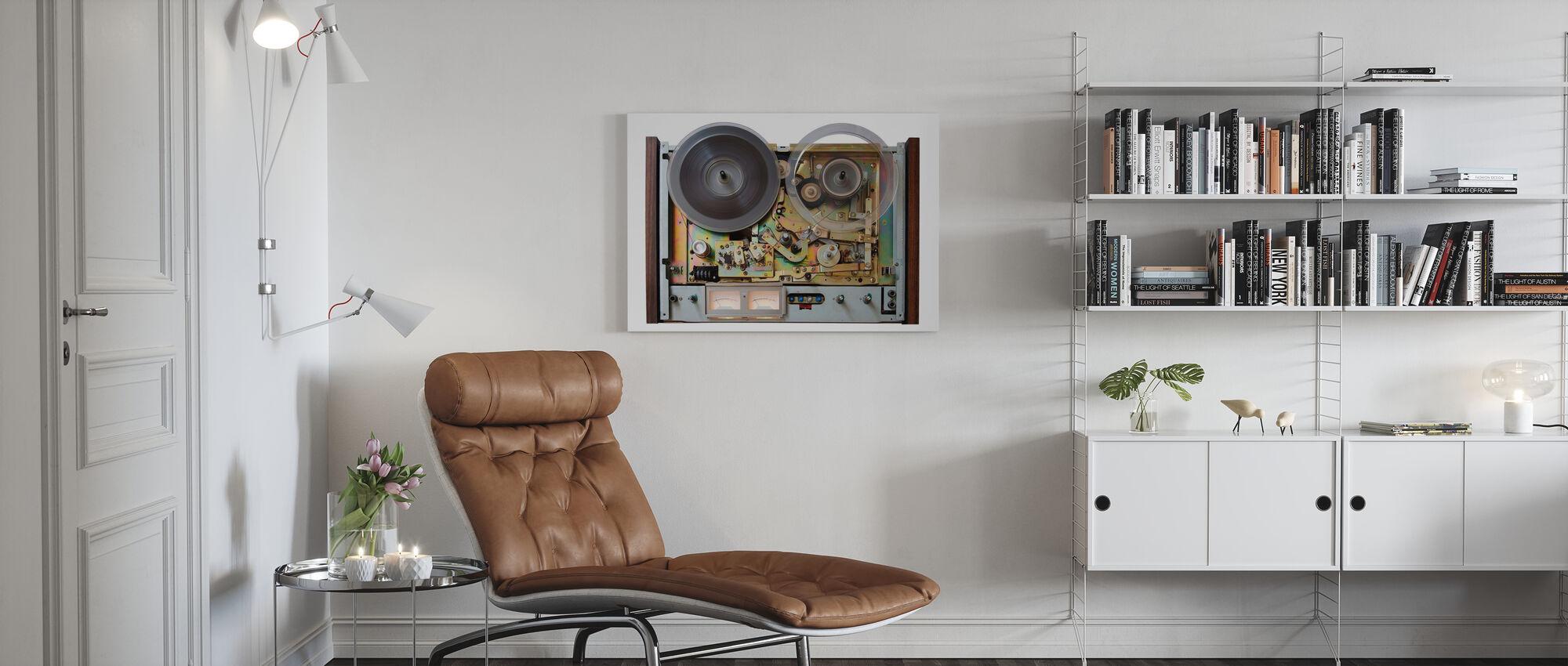 Taperecorder analogique vintage - Impression sur toile - Salle à manger