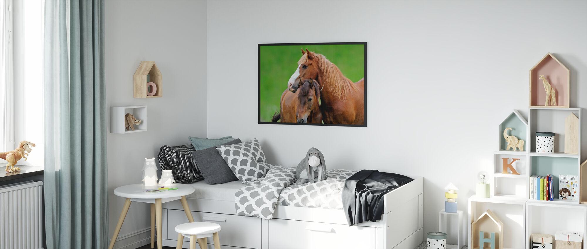 Paarden - Ingelijste print - Kinderkamer