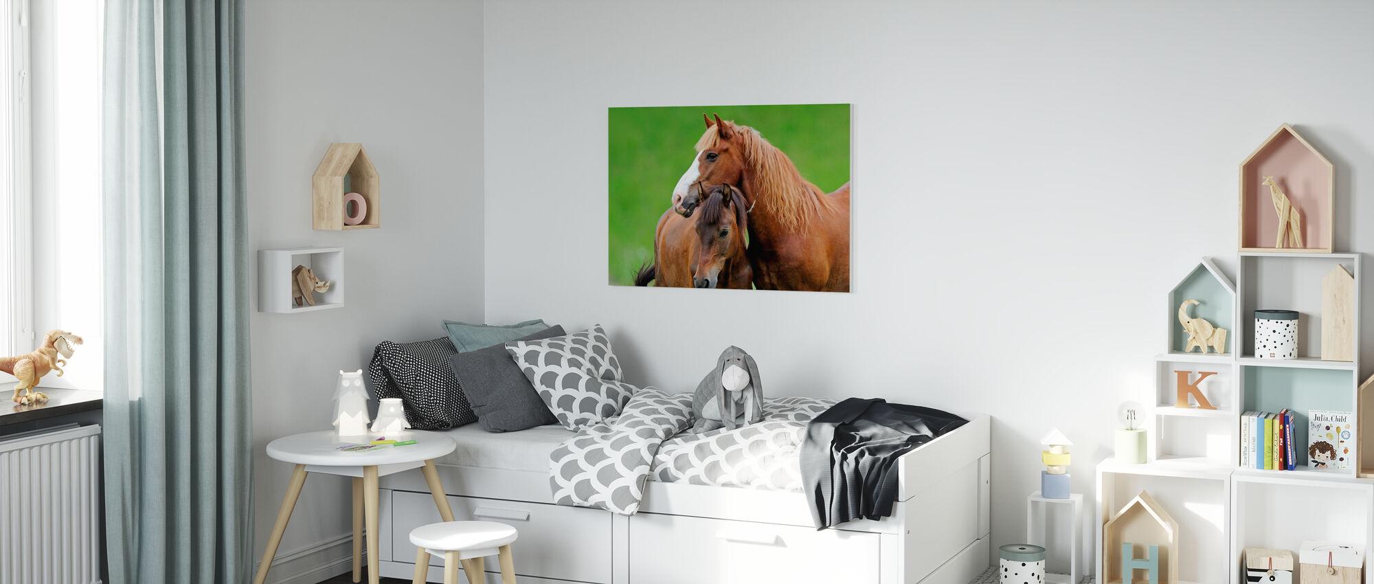 Paarden - Canvas print - Kinderkamer