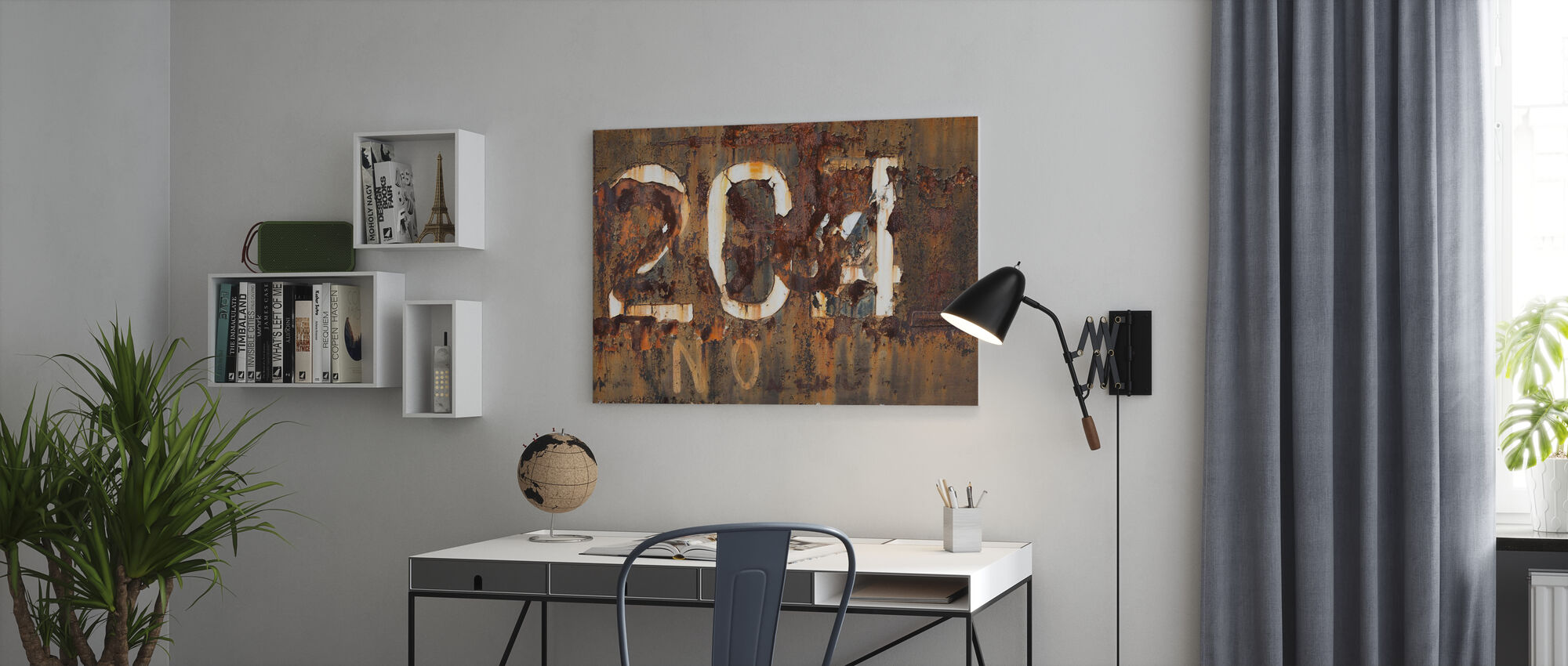 Rusty Old Surface - Canvas print - Office