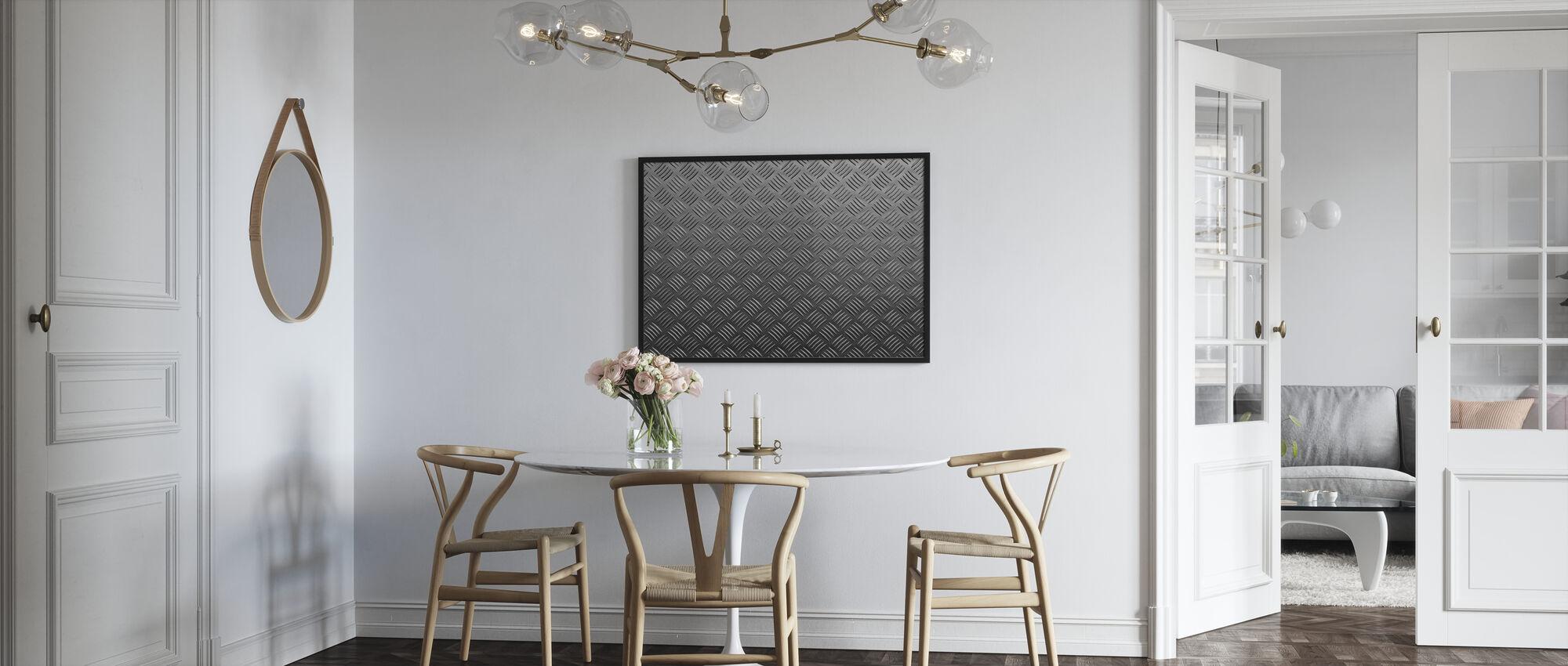 Metal Pattern - Framed print - Kitchen