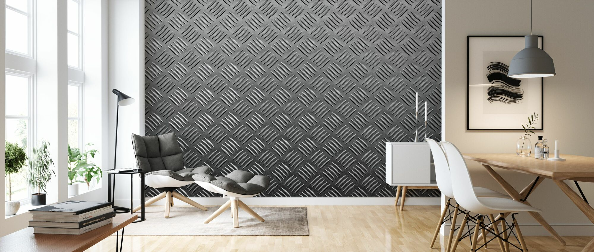 Metal Pattern - Wallpaper - Living Room