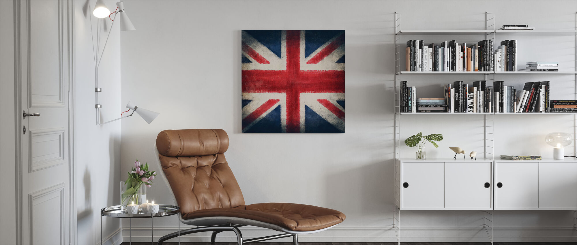 Retro Flag - Canvas print - Living Room