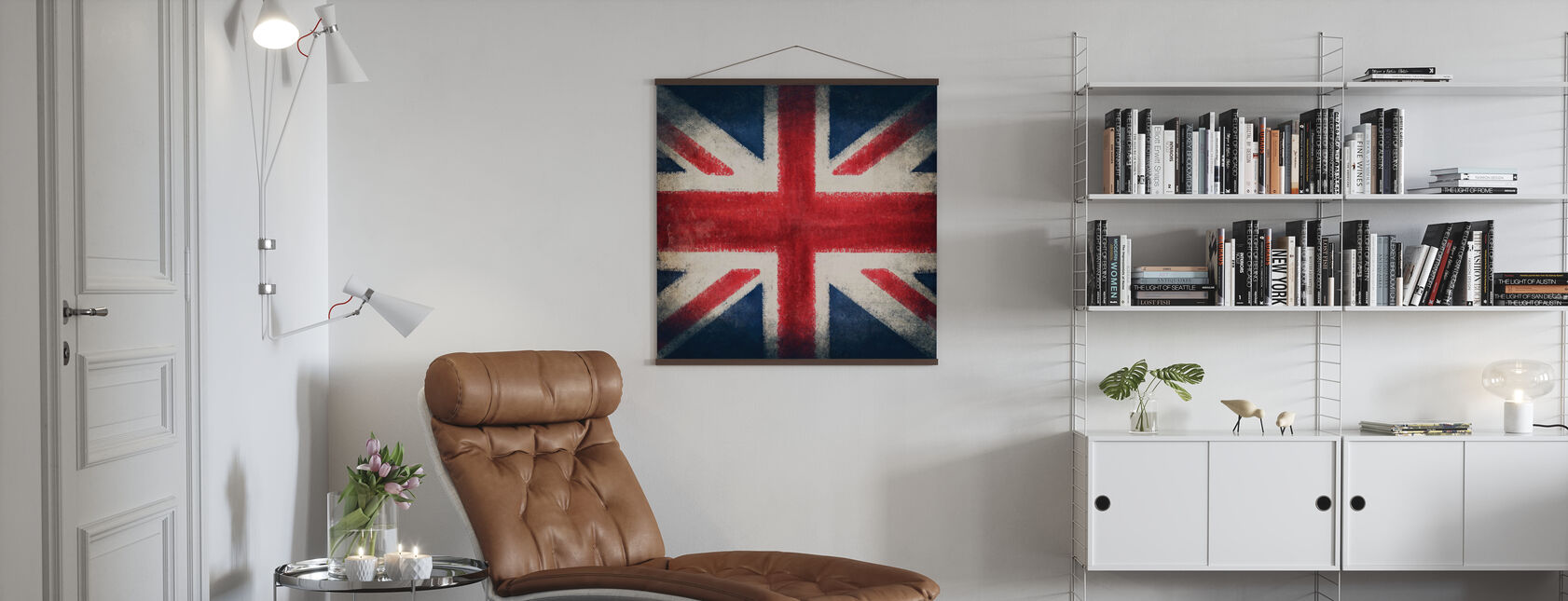Retro Flag - Poster - Living Room