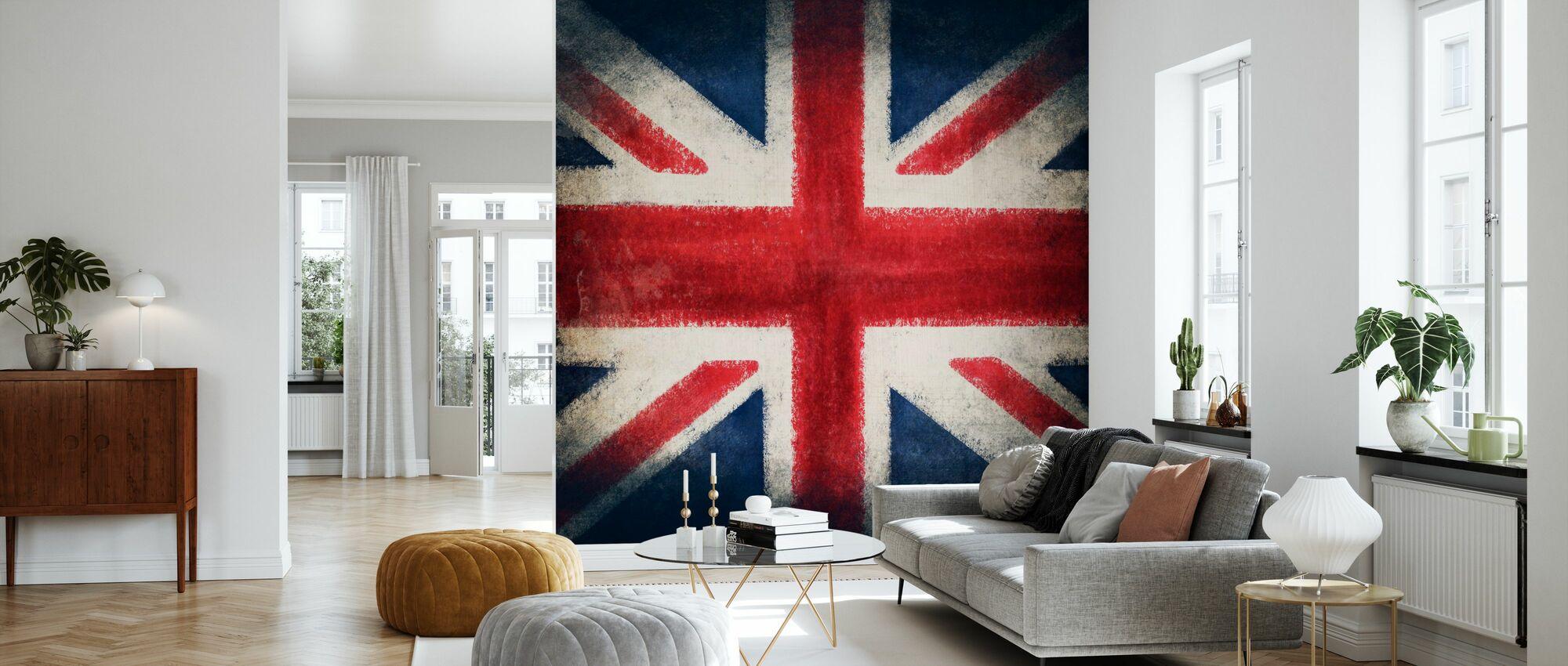 Retro Flag - Wallpaper - Living Room