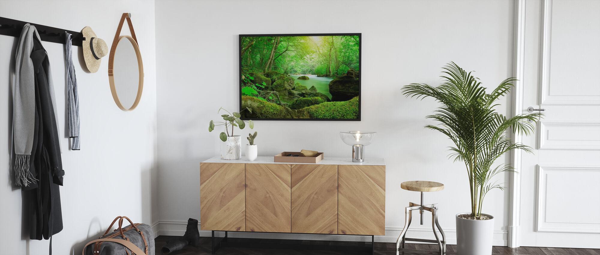 Fluss im Wald - Poster - Flur