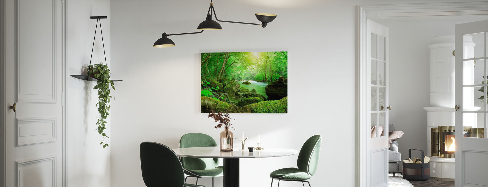 Fluss im Wald - Leinwandbild - Küchen