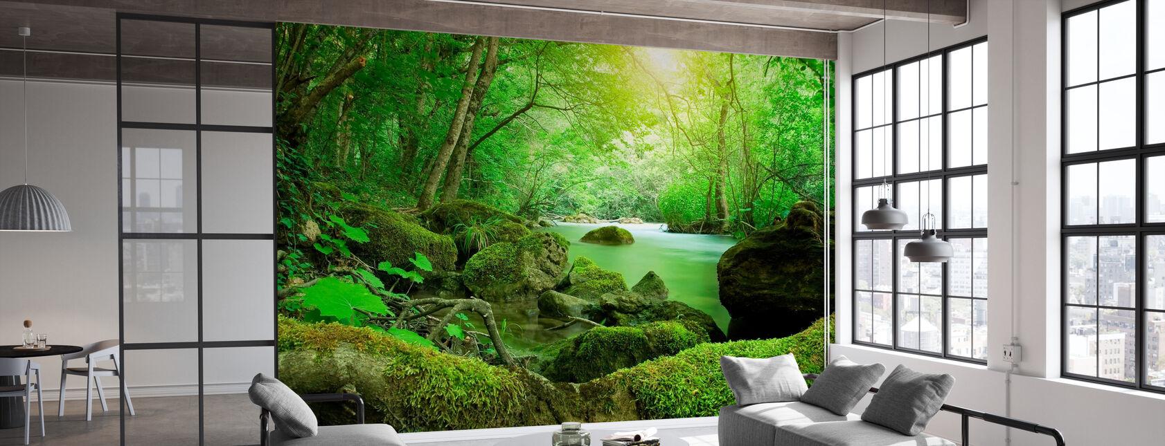 Flod i skogen - Tapet - Kontor