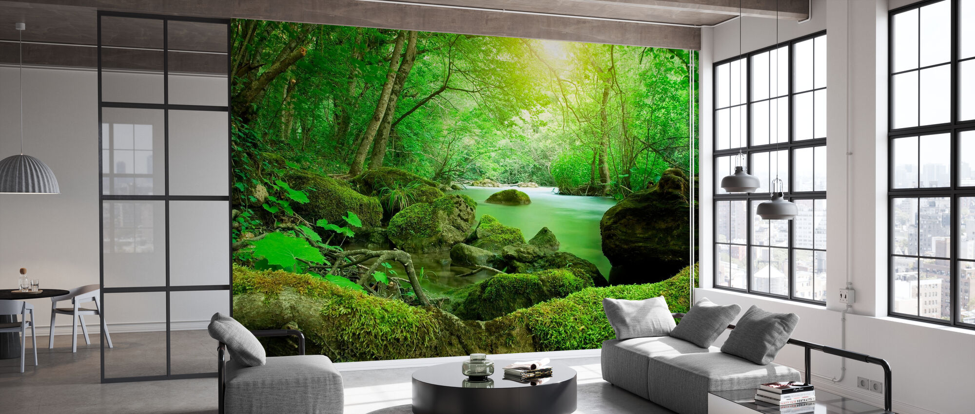 River in the Forest - Wallpaper - Office