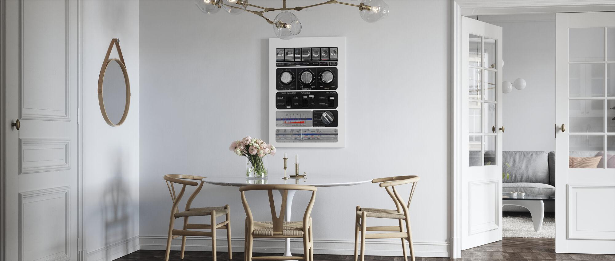 Vintage Amplifier - Canvas print - Kitchen