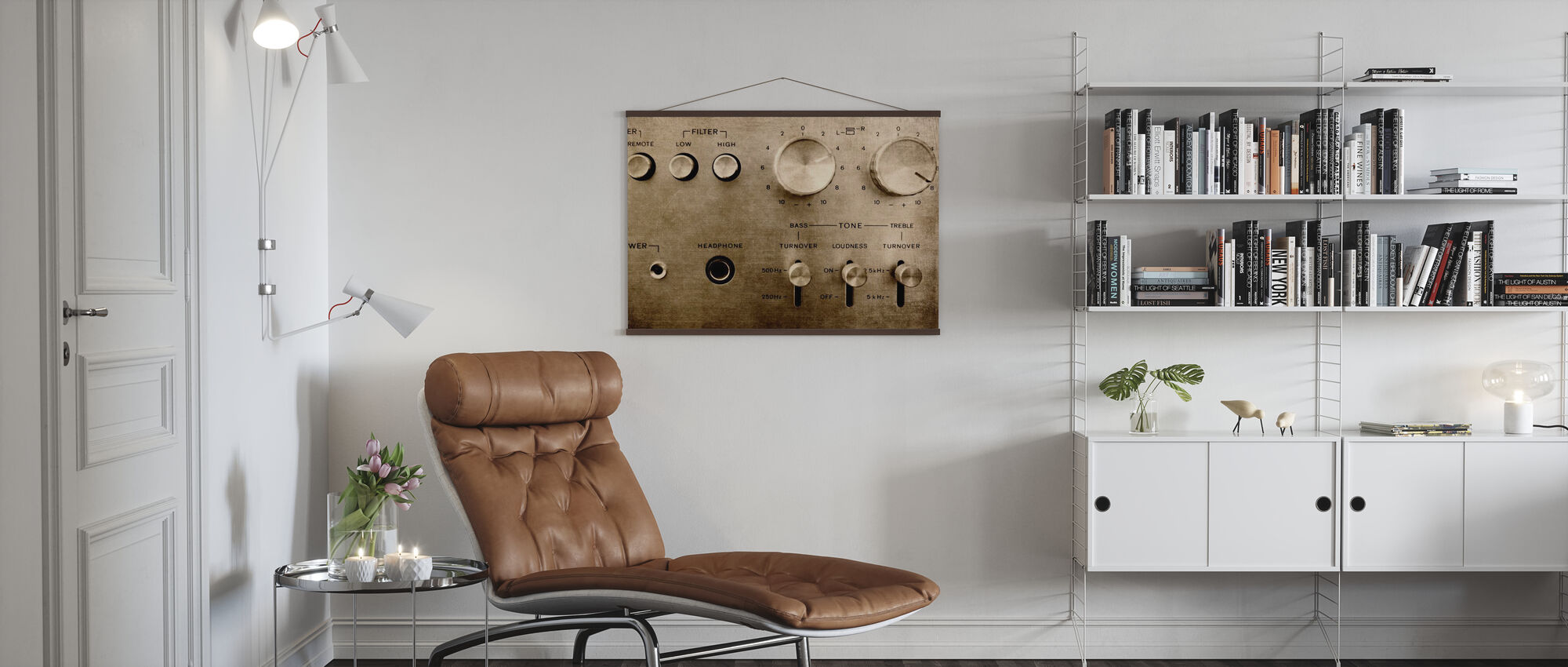 Retro Amplifier - Poster - Living Room