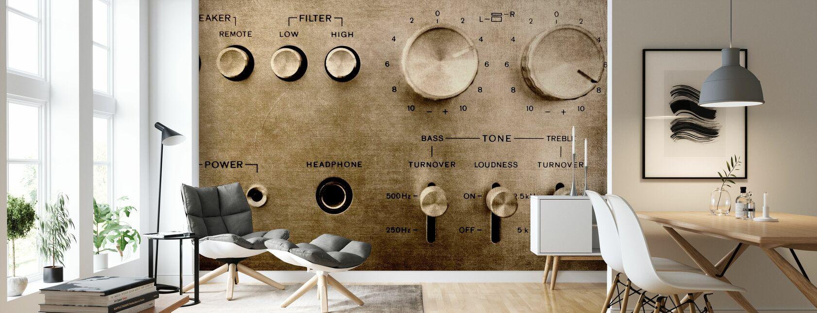 Retro Amplifier - Wallpaper - Living Room