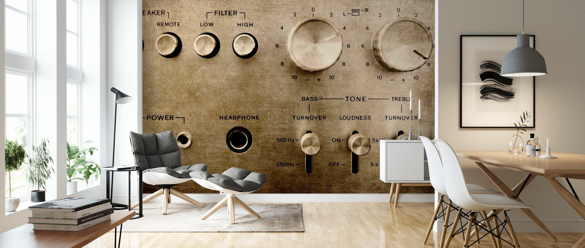 Retro-Verstärker - Tapete - Wohnzimmer