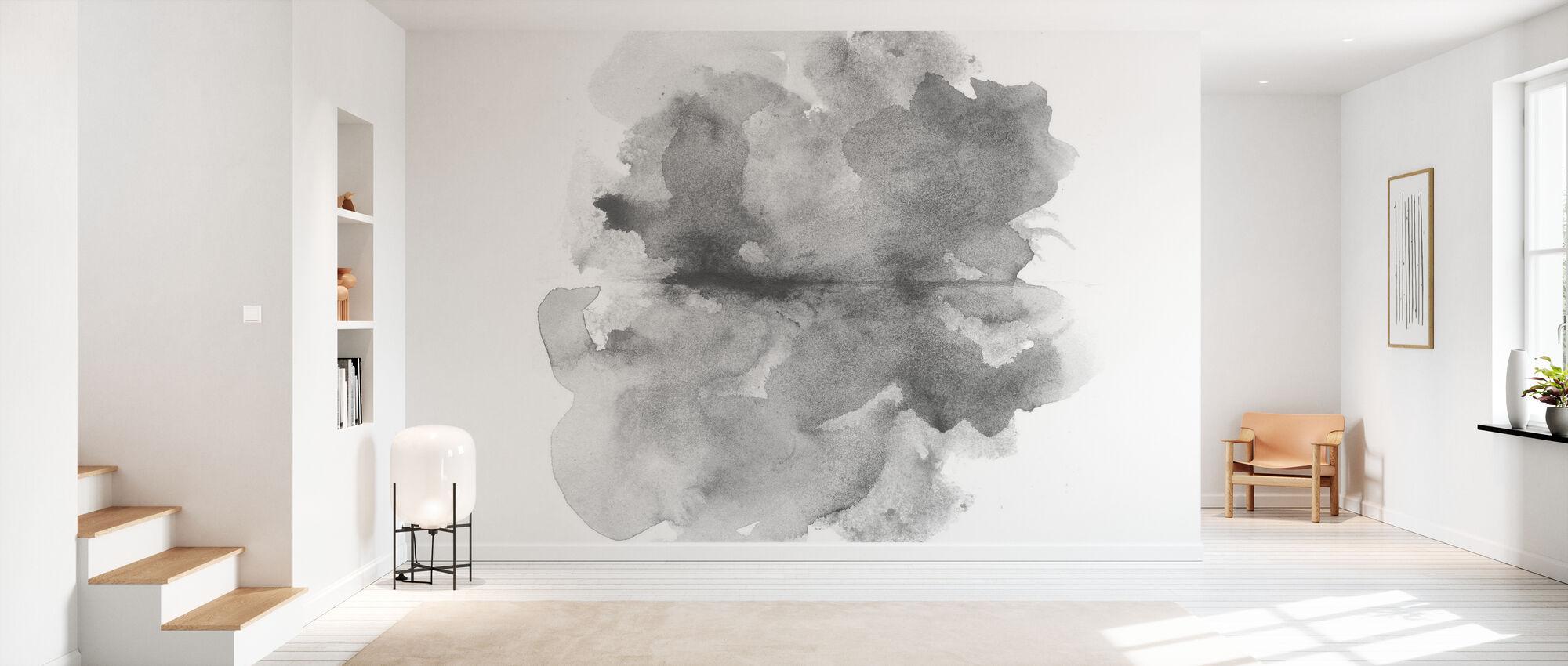 Aquarelle Gris - Papier peint - Entrée