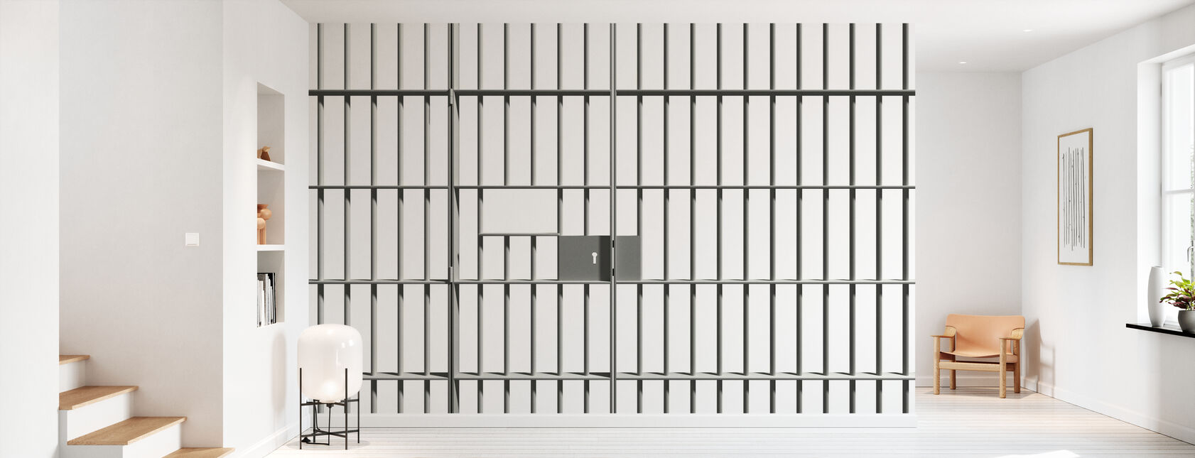 Fængsel Bars - Tapet - Entré
