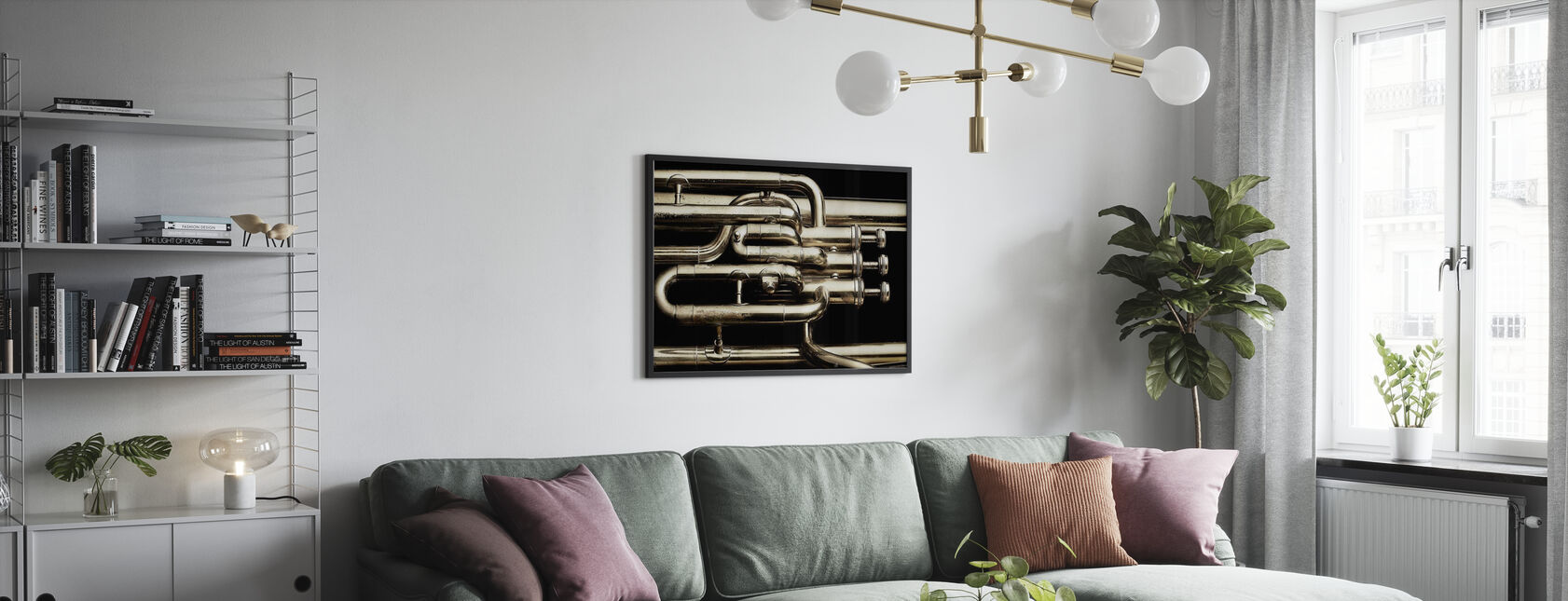Brass Horn - Poster - Living Room