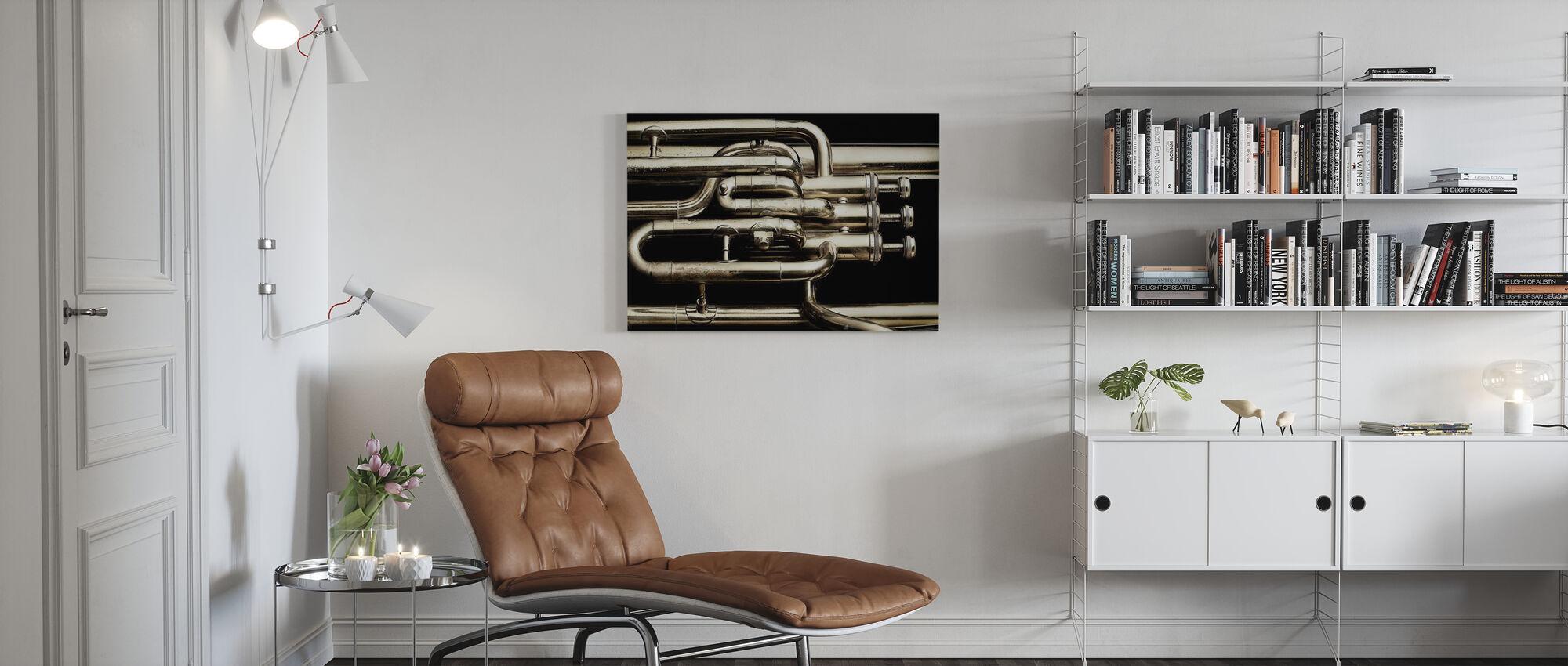 Brass Horn - Canvas print - Living Room