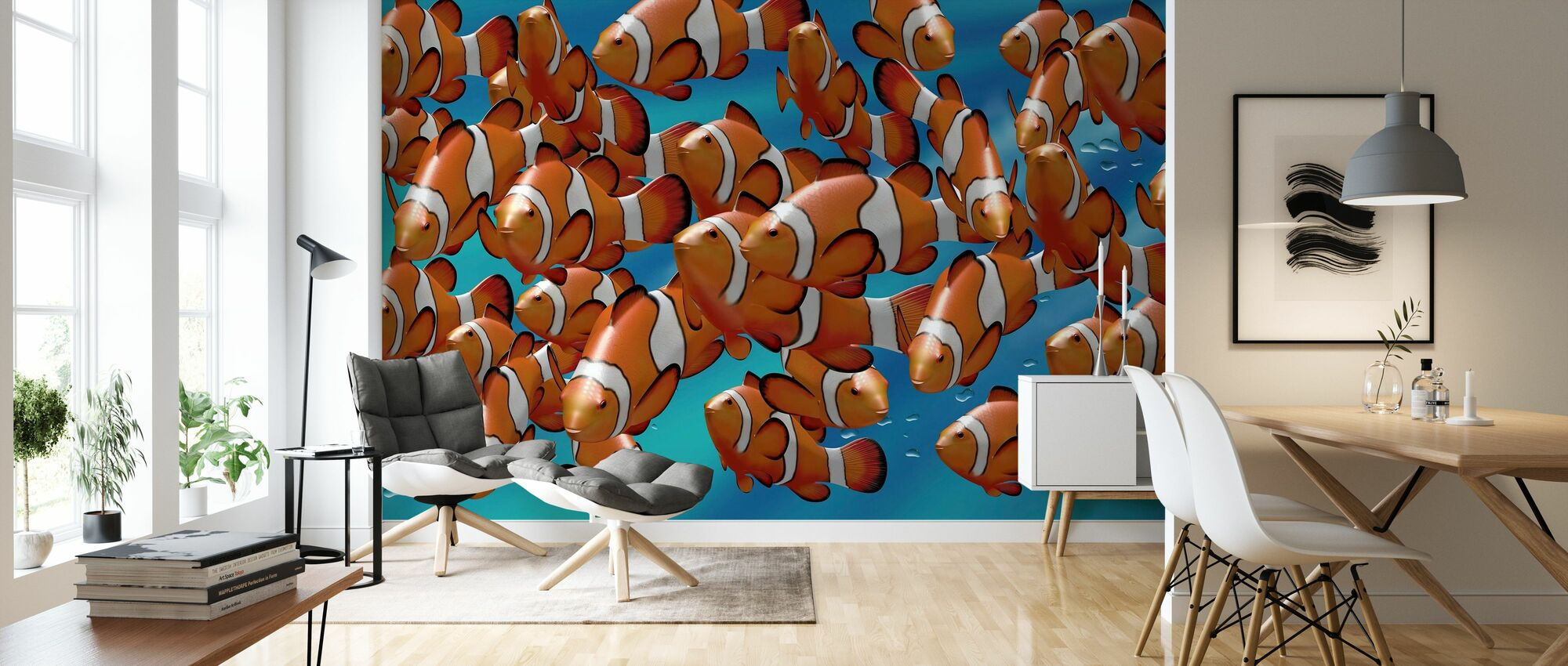 Clown Fish - Wallpaper - Living Room