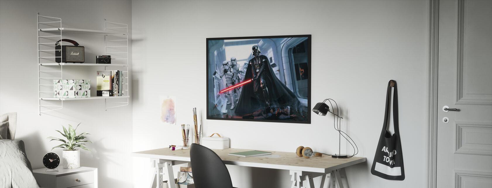 Darth Vader™ - Hämnd - Inramad tavla - Barnrum