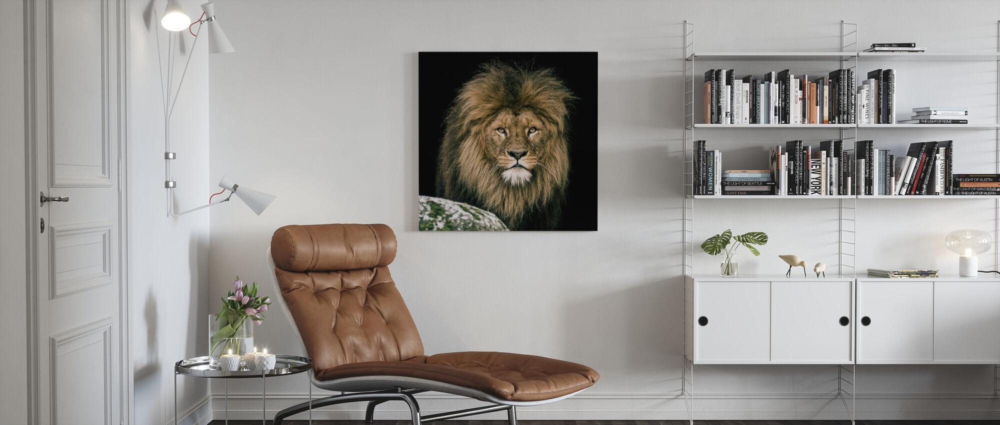 Lion - Impression sur toile - Salle à manger