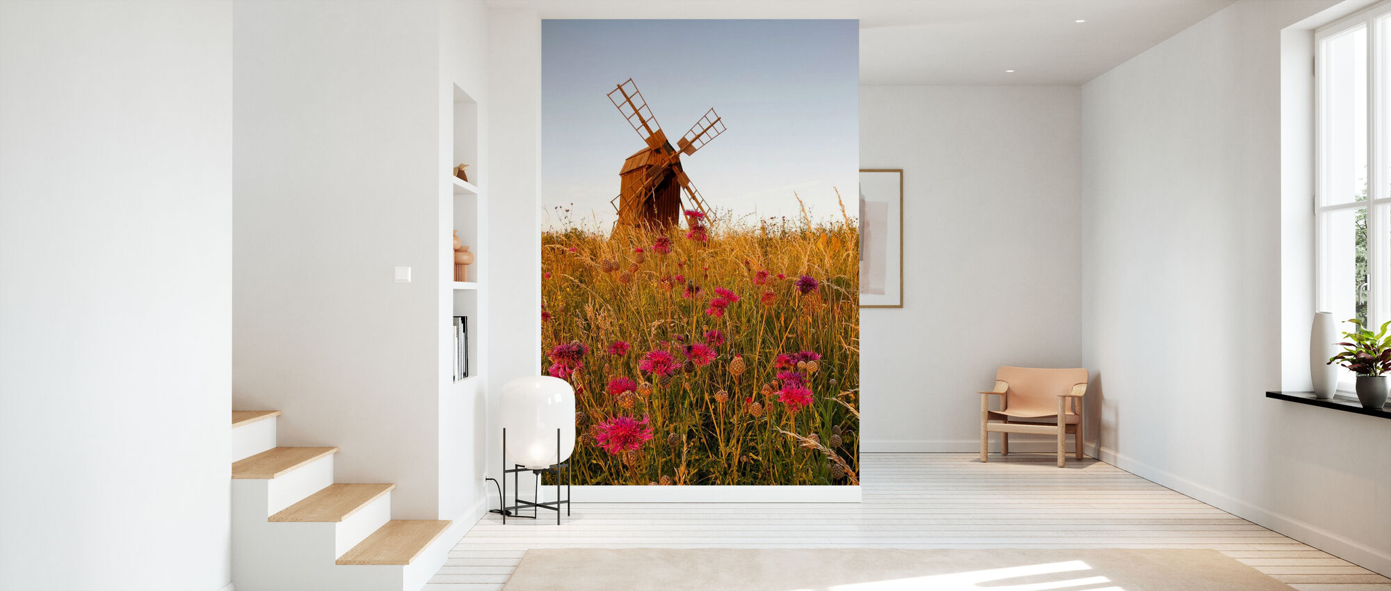 Körnige Windmühle - Tapete - Flur