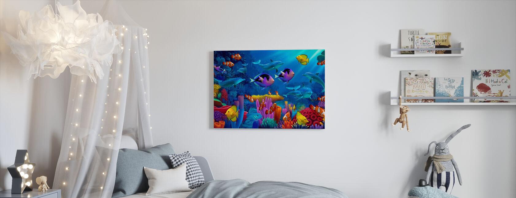 Havet af farve - Billede på lærred - Børneværelse