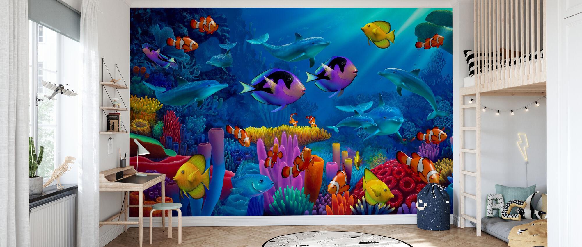 Ocean of Color - Wallpaper - Kids Room