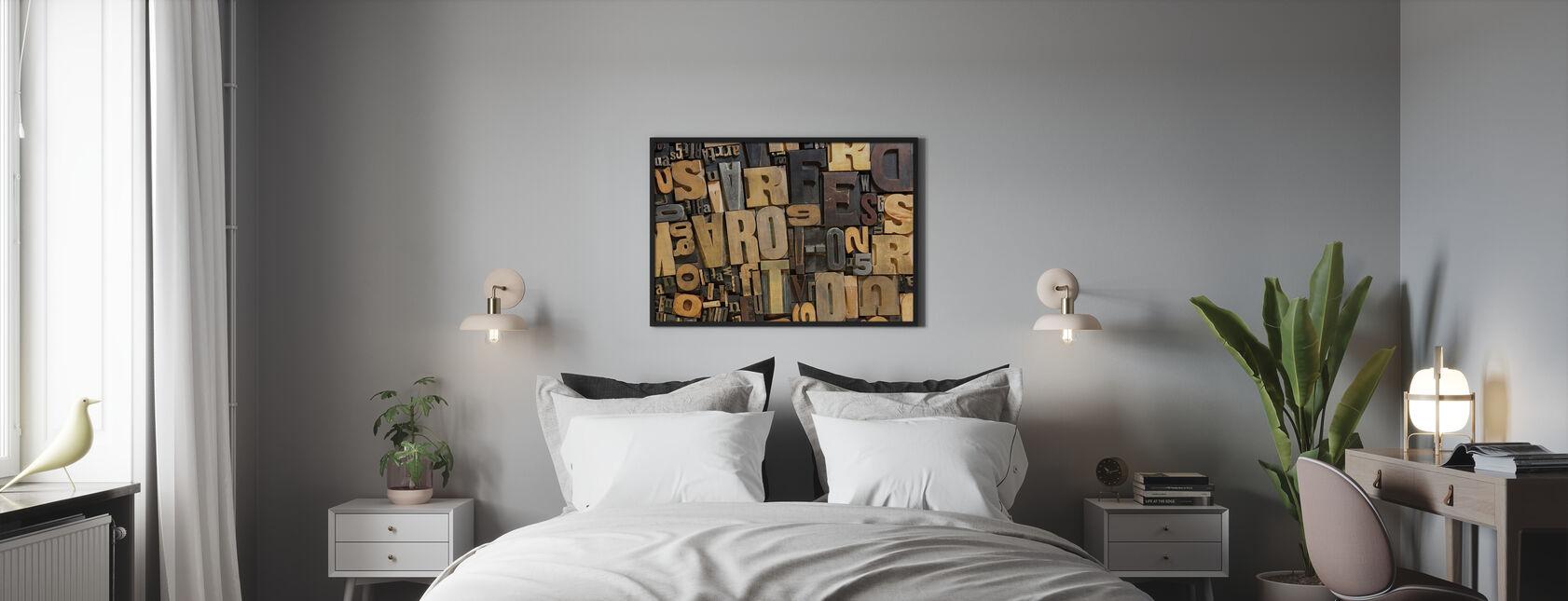 Lettres en bois vintage - Affiche - Chambre
