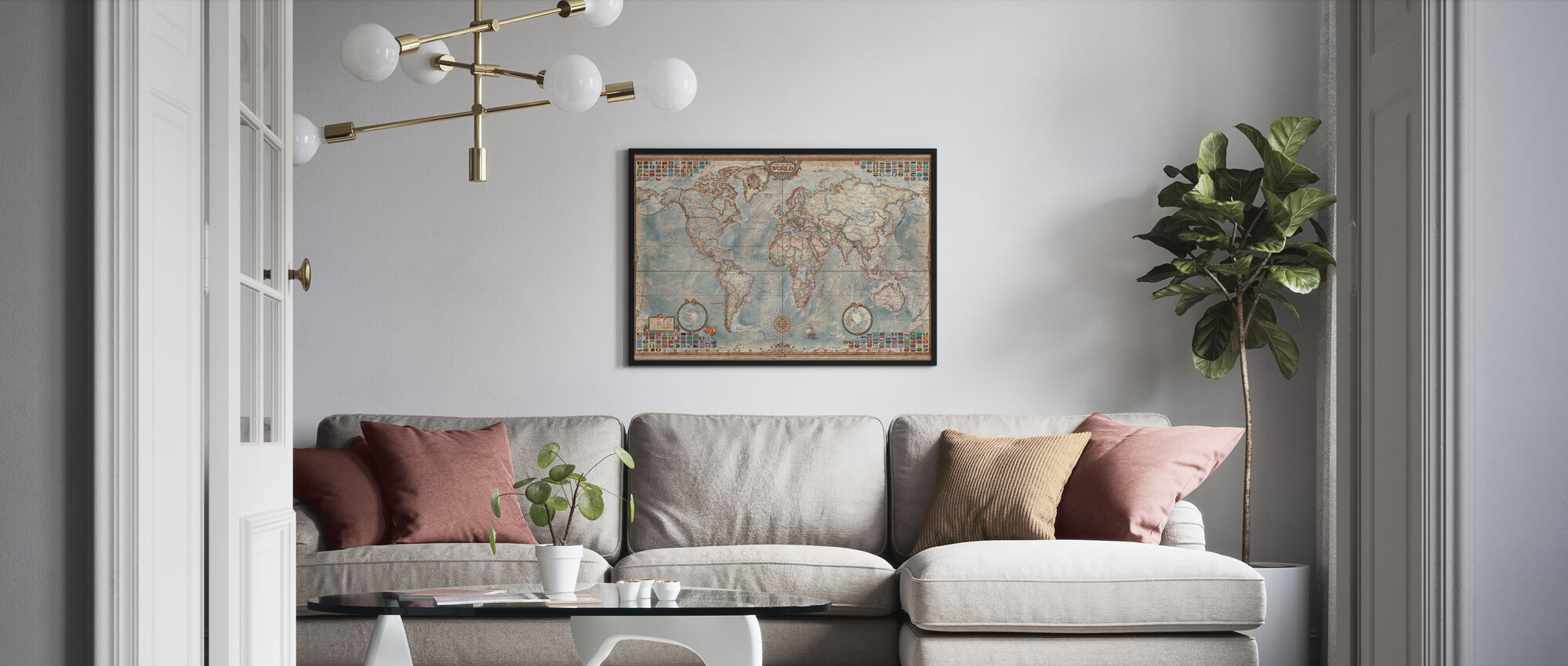 Executive Map - Poster - Living Room