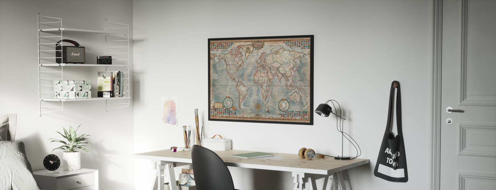 Executive Map - Framed print - Kids Room