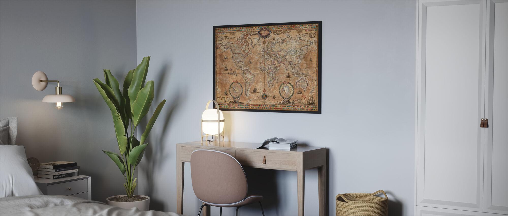 Pergament Map - Poster - Bedroom