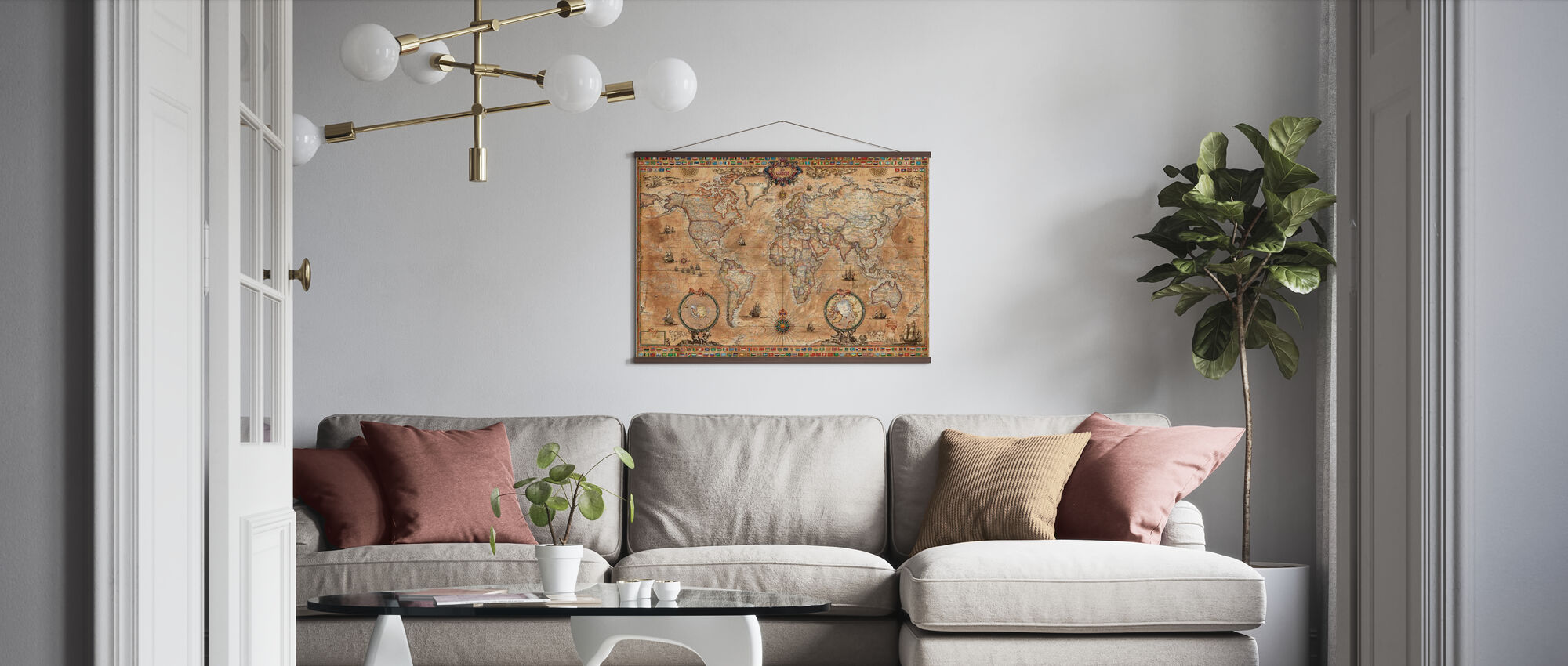 Pergament Map - Poster - Living Room