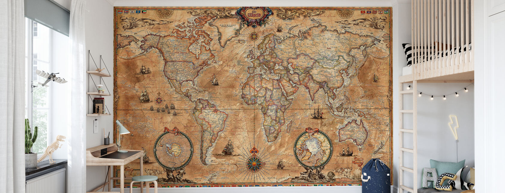 Pergament Map - Tapetti - Lastenhuone