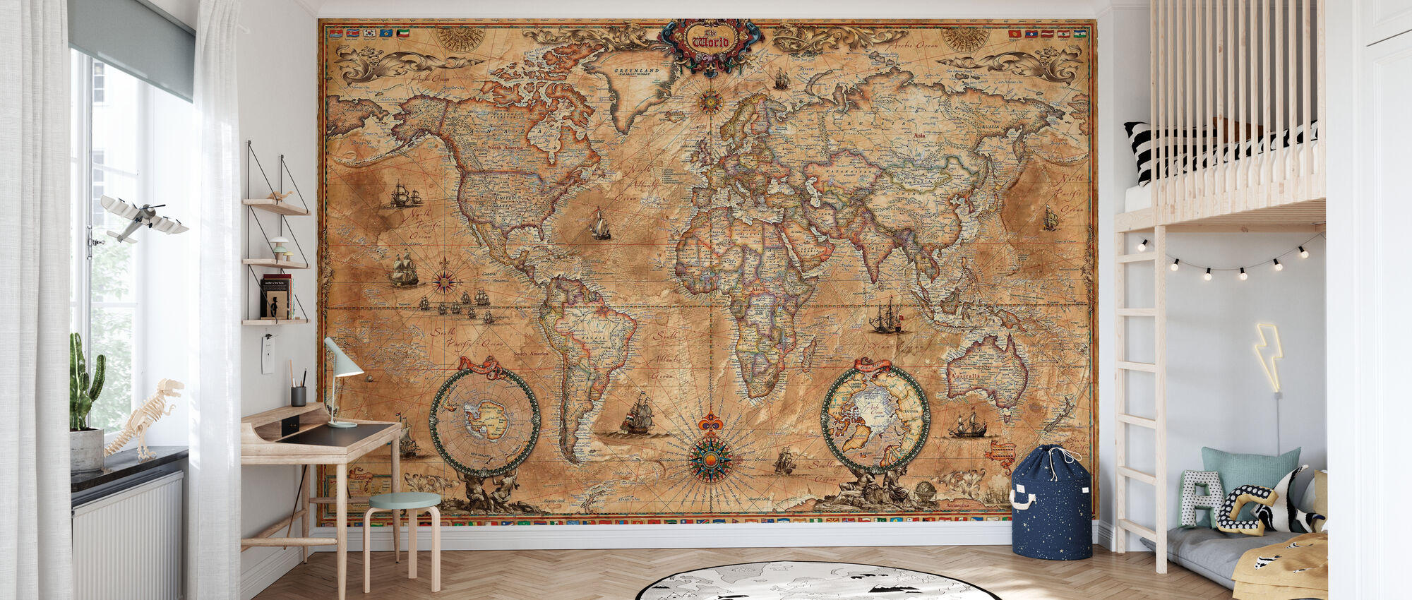 Pergament Map - Wallpaper - Kids Room
