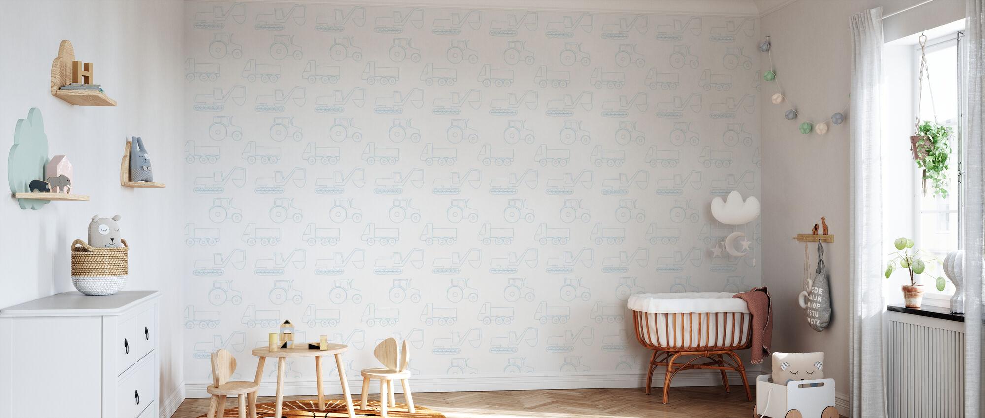 Véhicules de grande taille - Papier peint - Chambre de bébé