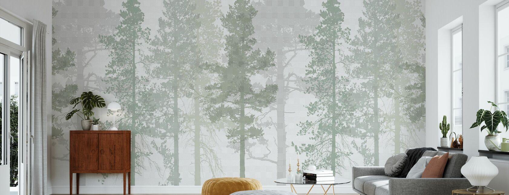 Tissage Bois Vert Cool - Papier peint - Salle à manger