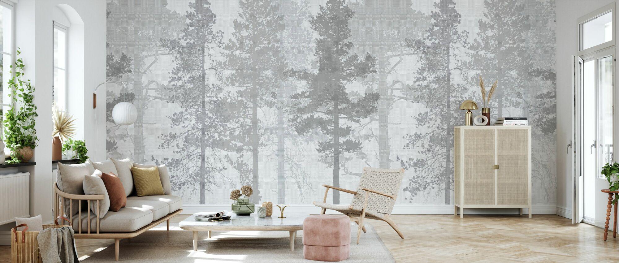 Weaving Wood Grey - Wallpaper - Living Room