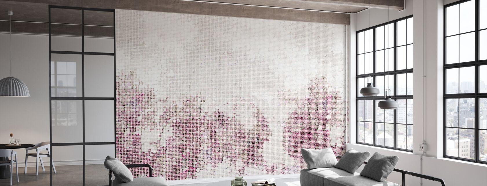 Mosaiikki Metsä - Violetti - Tapetti - Toimisto